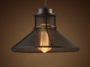 Industrial Black Pendant PD3803